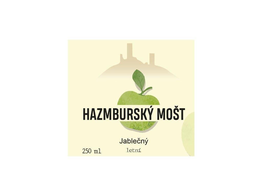 Hazmburský mošt Jablečný s dužinou LETNÍ