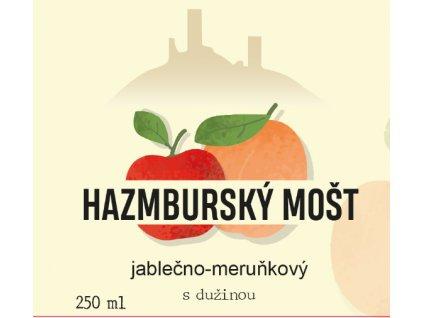 Hazmburský mošt jablečno-meruňkový s dužinou