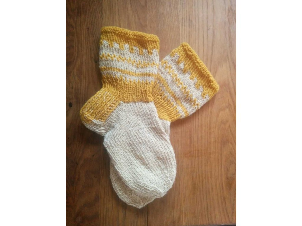 Ručně pletené ponožky z BIO vlny