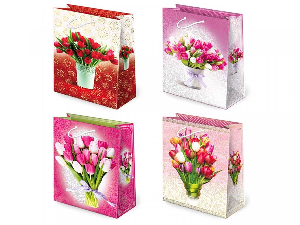 Darčeková taška Tulipány - veľkosť F5