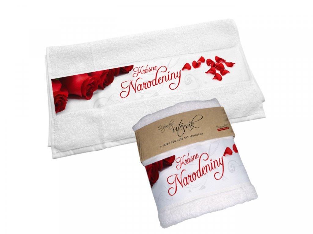 Originálny uterák - Krásne narodeniny