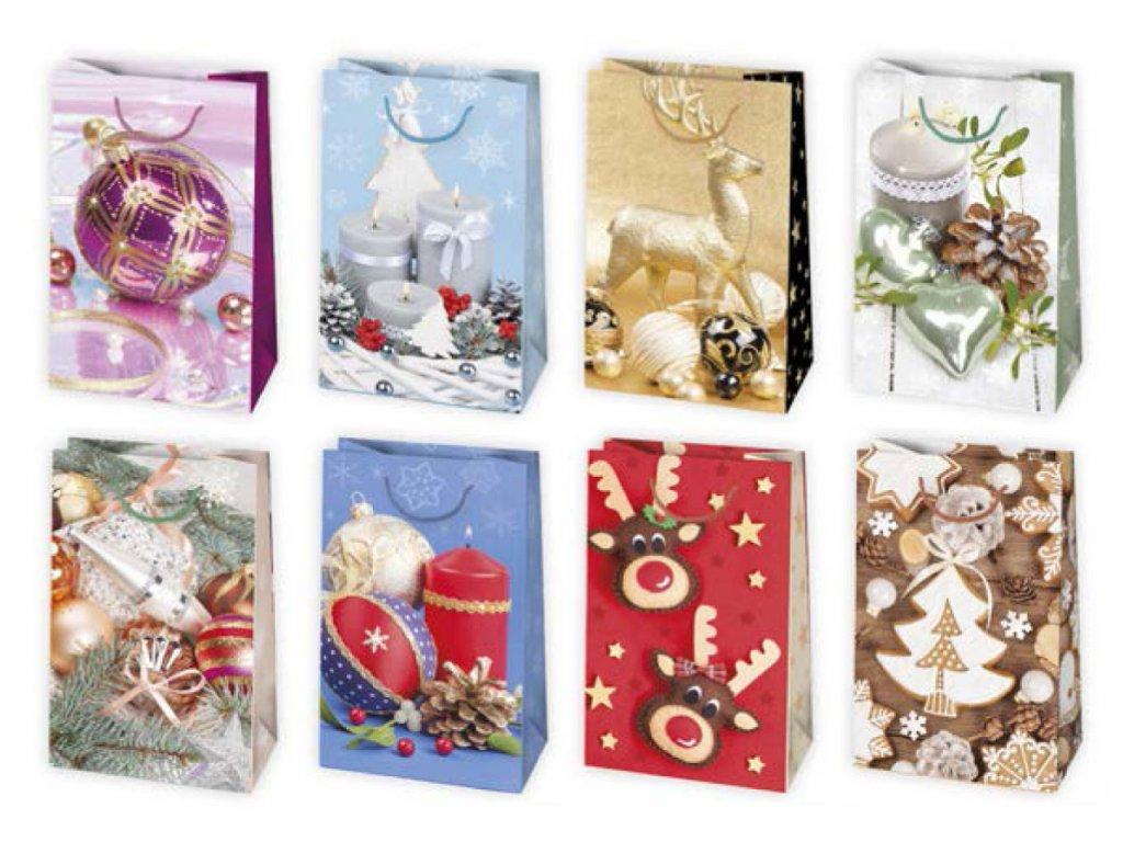 Vianočná darčeková taška Dekorácie - veľkosť F1