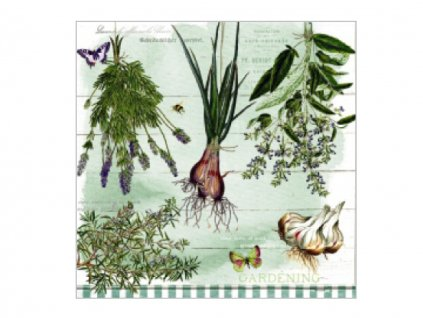 Servítky Bylinky a cesnak