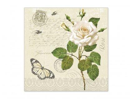 Servítky Biela ruža