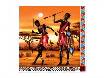 Servítky Afrika