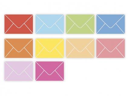 Obálky papierové farebné - typ B6