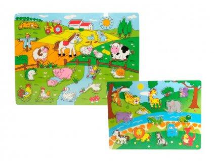 Puzzle drevené zvieratká