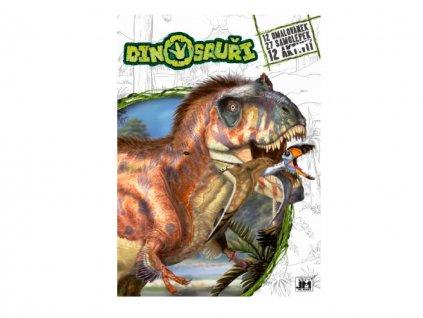 Vymaľovanky Disney so samolepkami - Dinosaury