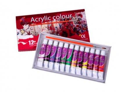Školské akrylové farby 12ks