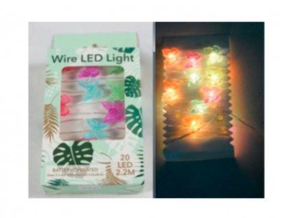 Svietiaca LED reťaz Motýle