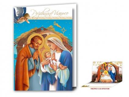 Vianočný pozdrav s 3D modulom - náboženský