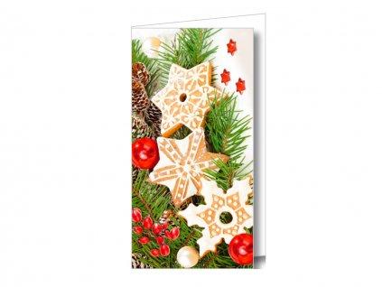 Vianočná karta na peniaze - pečivo