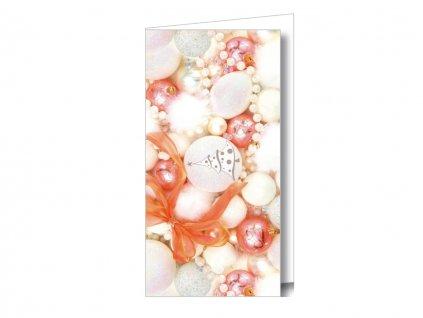 Vianočná karta na peniaze - gule