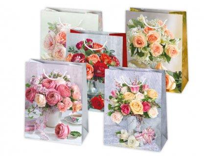 Darčeková taška Kvety vo váze - veľkosť F17