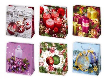 Vianočná darčeková taška Dekorácie - veľkosť F2