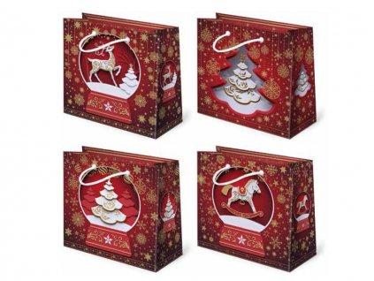 Vianočná darčeková taška Kreslené - veľkosť F2