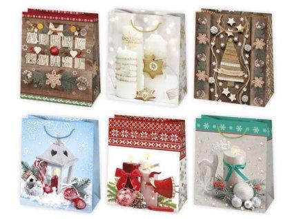 Vianočná darčeková taška Dekorácie - veľkosť F4
