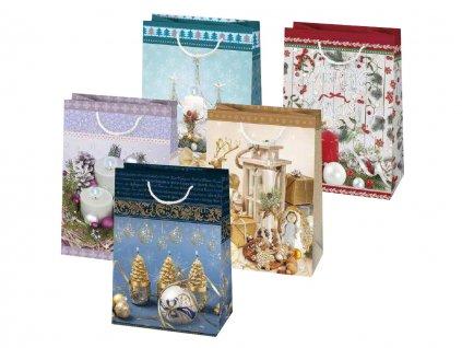 Vianočná darčeková taška Dekorácie - veľkosť F9