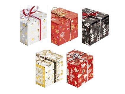 """Vianočný baliaci papier v rolke """"Zlátený a striebrený"""" Grafika"""