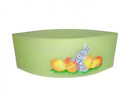 Svietnik slza zelený - zajačik a vajíčka