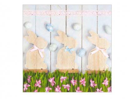 Servítky Dekorácia zajačik