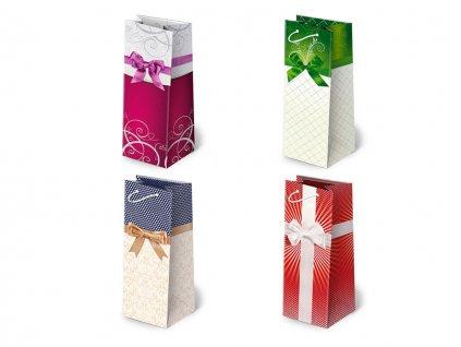 Darčekové tašky na alkohol, darčekové tašky na víno, darčekové tašky na fľaše, papierové tašky s mašľou.