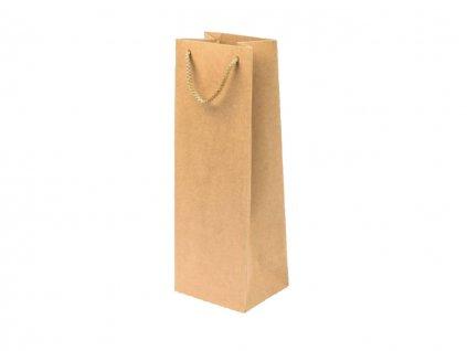 Darčeková taška na fľašu EKO hnedá - veľkosť F15K