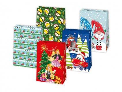 Vianočná darčeková taška Detské - veľkosť F9