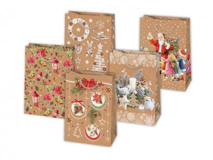 Vianočná darčeková taška Grafika - EKO - veľkosť F9K