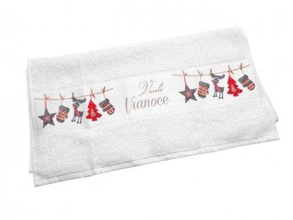 Originálny uterák Veselé Vianoce - dekorácie na šnúrke