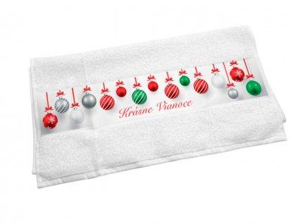 Originálny uterák Krásne Vianoc - gule