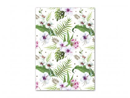 Baliaci papier Kvety a listy