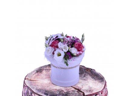 Flowerbox z Růží a Lisianthusu