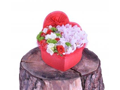 Flowerbox Srdce Cymbidium a Chrysanthemy