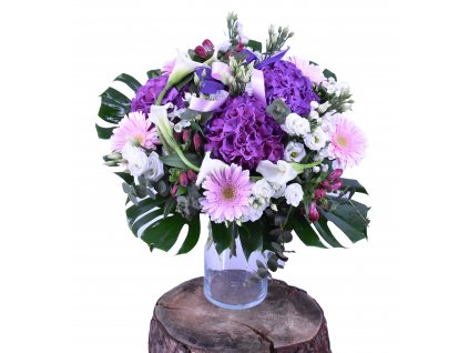 Velká kytice z Hortenzií, Gerber a Cally