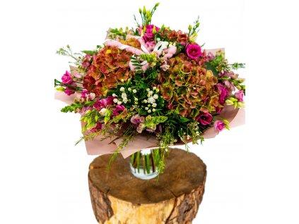 Velká kytice Hortenzií a Lisianthusu