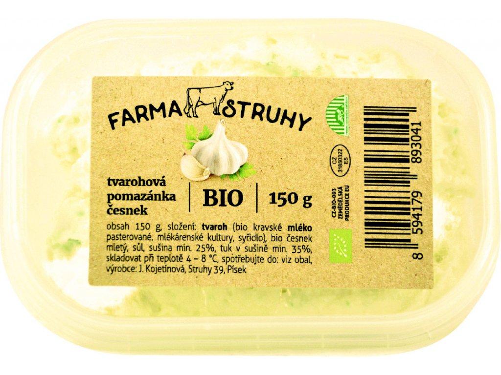 Tvarohová pomazánka s česnekem 150g Farma Struhy