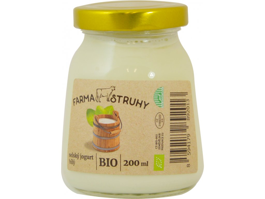 Jogurt bílý bio 150g farma Struhy