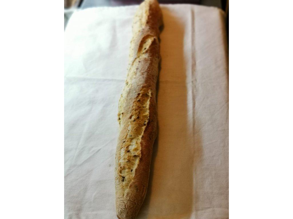 Bageta francouzská bílá