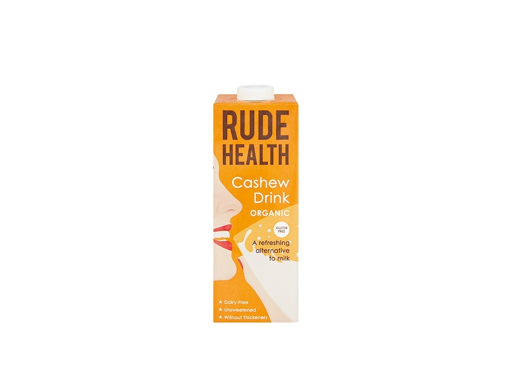 rude health cashew nut drink milk 1l