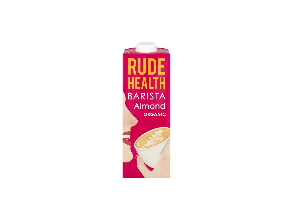 rude health organic barista almond milk drink