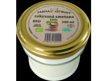Smetana zakysaná 16% 200g bio farma Struhy