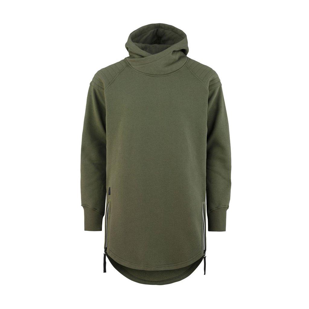 hoodie wolfshood army green 1