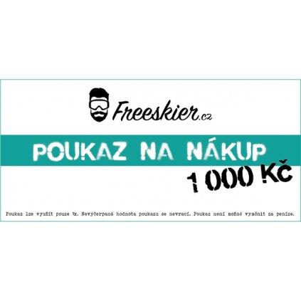 2017 18 Freeskier poukaz na nákup 1000Kč