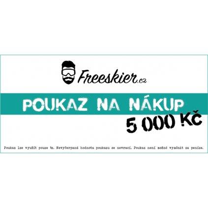 2017 18 Freeskier poukaz na nákup 5000Kč