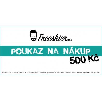 2017 18 Freeskier poukaz na nákup 500Kč