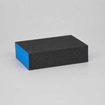 Brusná houbička - čtyřstranná, modrá