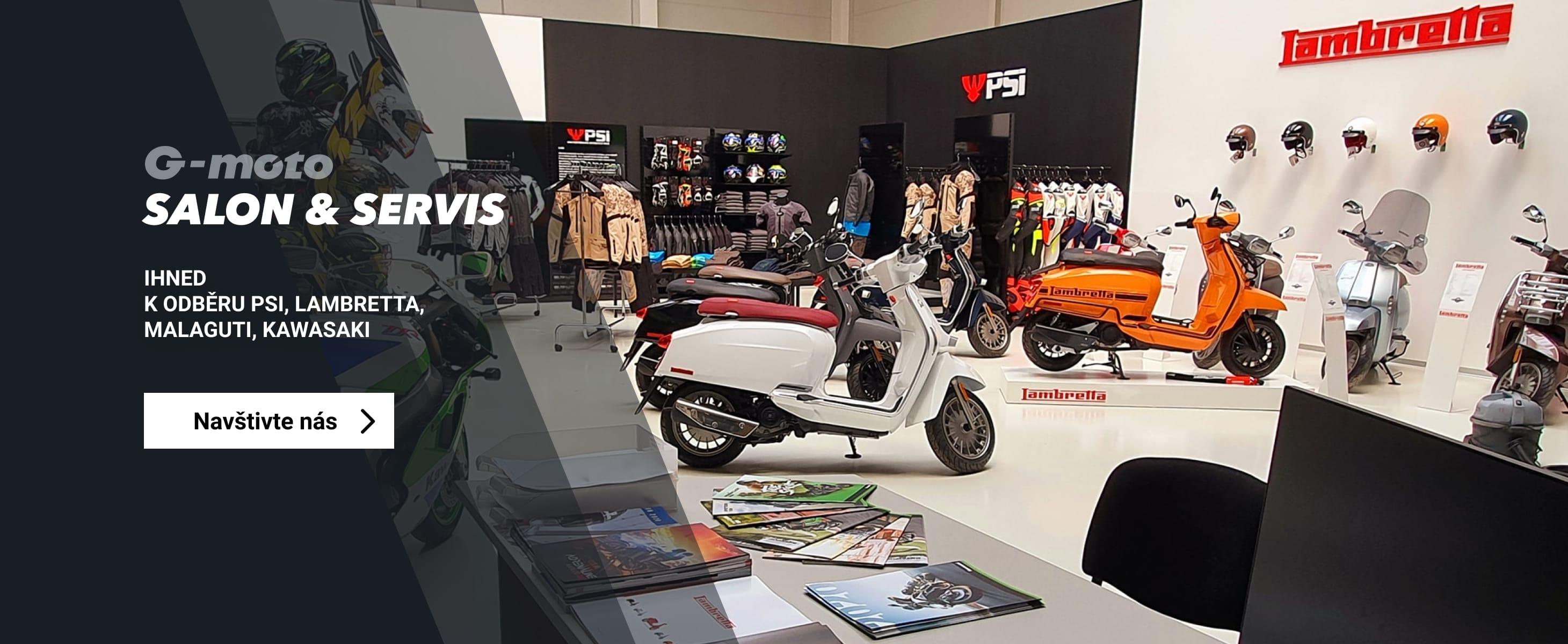 Navštivte G-Moto Salon a Servis