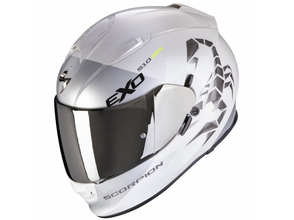 scorpion exo 510 air pique white silver xl