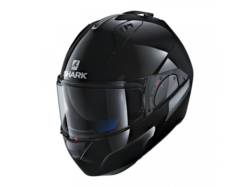 shark helmets evo one 2 blank black HE9700DBLK front left 1024x1024